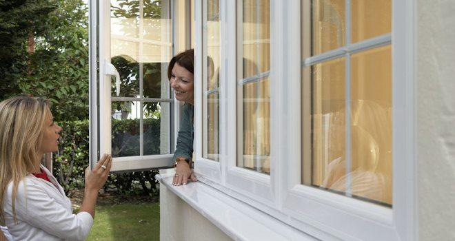 open UPVC window side view