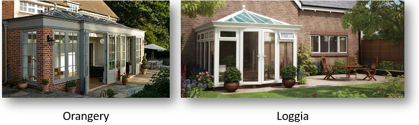 orangeries compared to conservatories