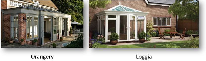 orangeries compared to conservatories